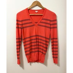 G150 J. Crew Factory | Striped V-Neck Sweater